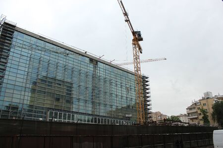 Der Aufbau des neuen Gebäudes der US-Botschaft Standard-Bild