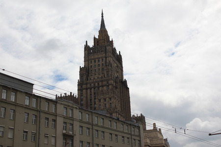 foreign affairs: High-rise building of the Ministry of Foreign Affairs Editorial