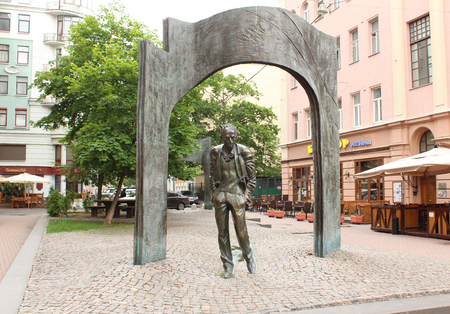 screenwriter: Monument to Bulat Okudzhava on Old Arbat Editorial