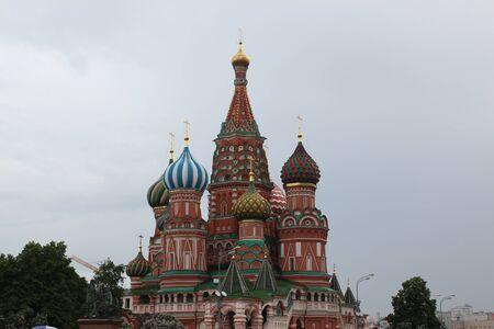 st  basil: Moscow. Pokrovsky Cathedral (St. Basil) Stock Photo
