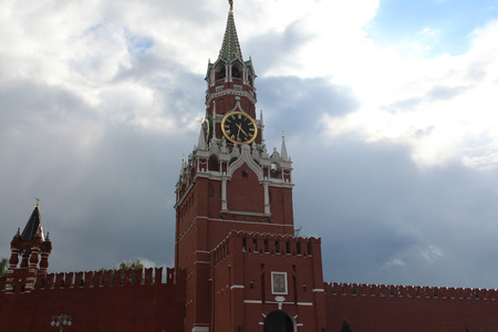 spassky: The Spasskaya Tower. Moscow. Kremlin