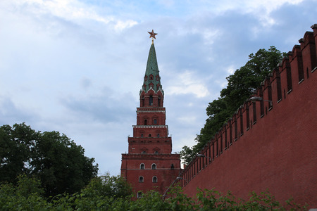 Borovitskaya Tower of the Moscow Kremlin.