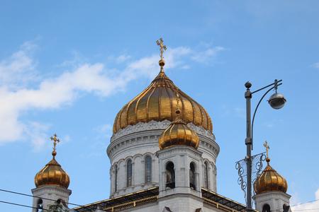 savior: Domes of the church of Christ the Savior Stock Photo
