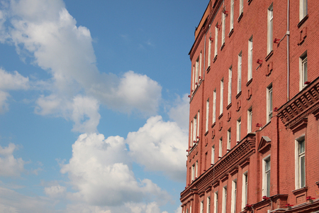 Fragment of a building of the former Red October factory