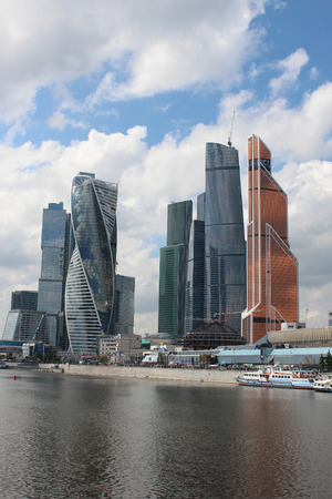 Skyscrapers of finance and office business center Moscow-City Editorial