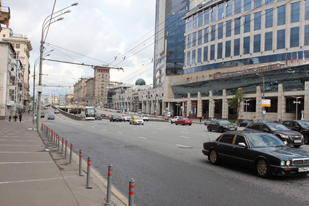 boulevard: Moscow, the traffic on the Smolensk Boulevard Editorial