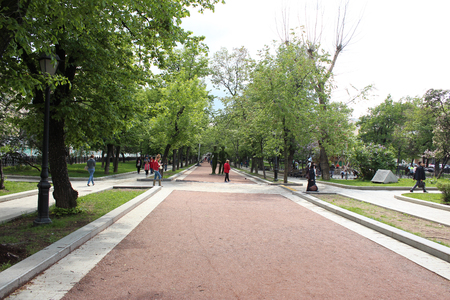 centenarian: Alley, Tverskoy Boulevard, Moscow Editorial