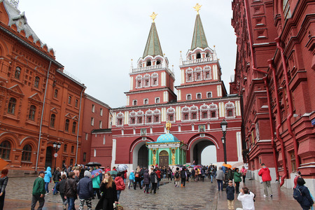 Moscow. Resurrection (Iberian) gate in the Kremlin Editorial