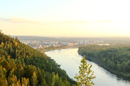 The river Kan and city Zelenogorsk