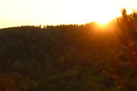The sun goes beyond the horizon