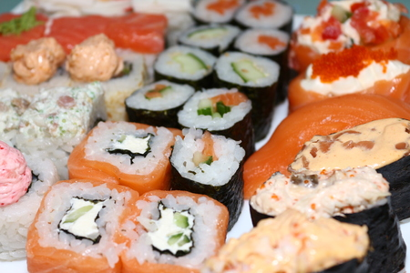 Sushi rolls big dinner set Stock fotó