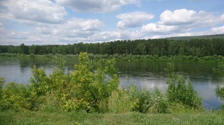 Russian landscape - river and forest