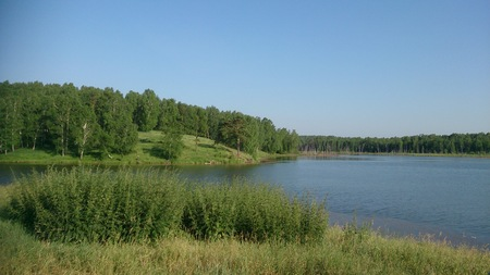 Lake and forest in Siberia