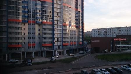 Russia, Krasnoyarsk July 15, 2016.Multi-apartment houses in the city Krasnoyarsk