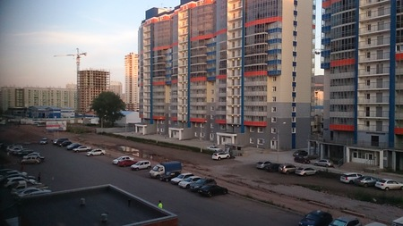 Russia, Krasnoyarsk July 15, 2016.Multifamily houses in the city Krasnoyarsk
