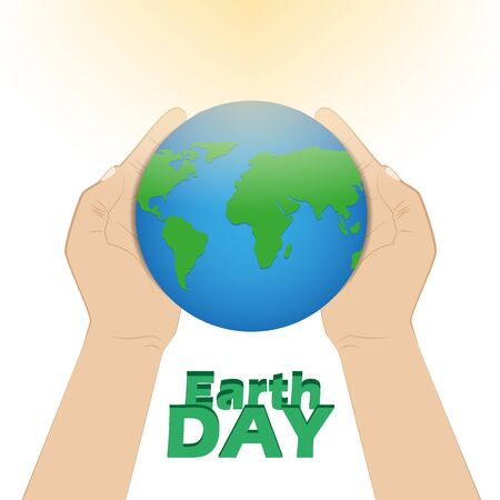 hands holding earth: Human hands holding Earth, save earth concept.
