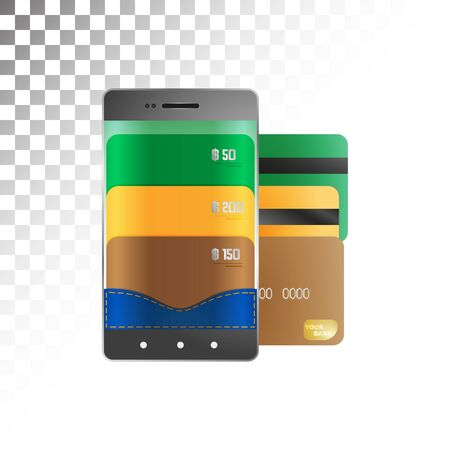 transfers: Electronic payments and transfers via smartphone. Illustration