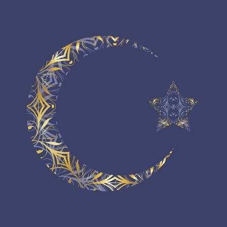 crescent: Ornament crescent and star.