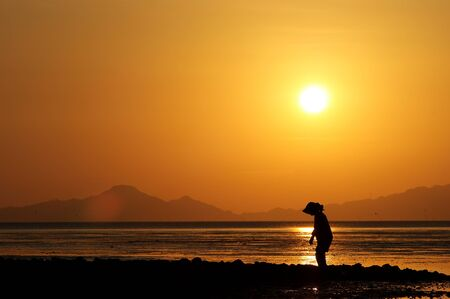 Old Women at Sunset