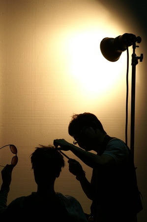 Model During Make Over Stock Photo - 16839245