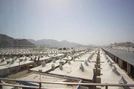 MAKKAH, SAUDI ARABIA - APRIL 24, 2016 : Hundreds Of Tents To Be Used For Hajj Pilgrimage In Mina Editorial