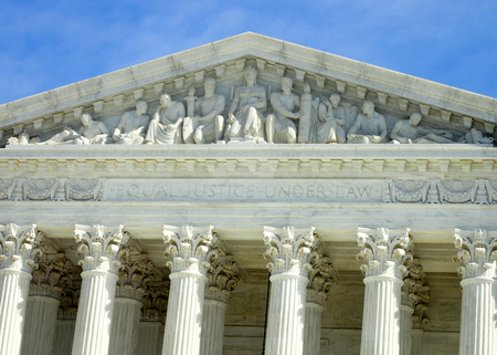 Inscription over the United States Supreme Court Building in Washington DC.