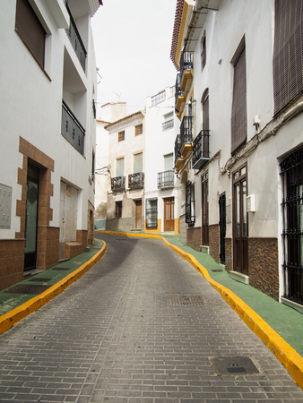 A street in a small town in the Andalusian region of southern Spain.