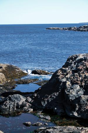 Tidal pools in Acadia National Park near Bar Harbor, Maine.