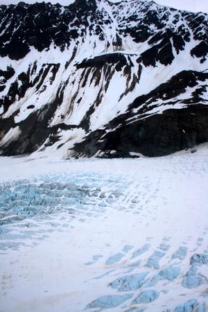 A glacier in Kenai Fjords National Park near Seward Alaska.