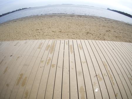 A sandy beach near Boston, Massachusetts.