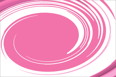 Abstract the rotation of the pink and white oval background