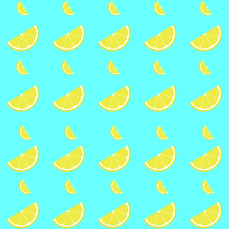 Lemon seamless pattern with slice. Vector illustration fof decoration.
