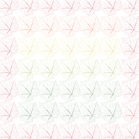 seamless colorful leaf patterns. Vector illustration backgrounds.