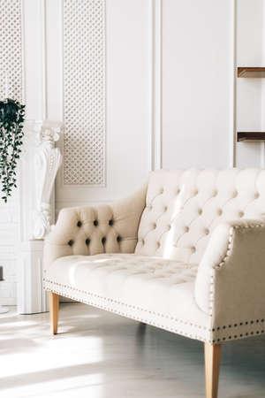 White comfortable sofa in elegant living room ... White comfortable sofa in elegant living room ...