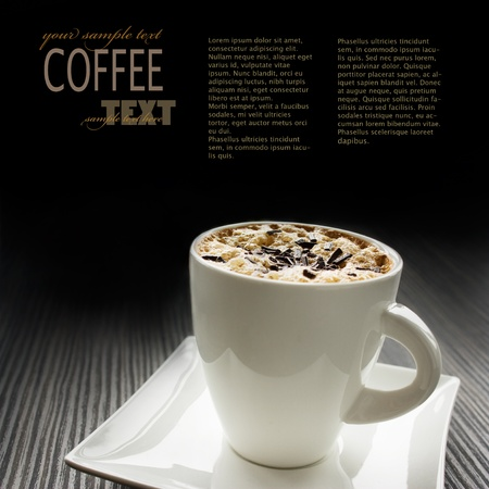 pastry shop: Cappuccino image with copyspace Stock Photo