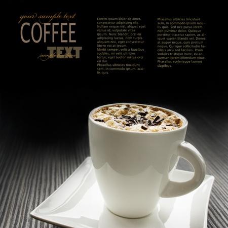 L'image Cappuccino avec copyspace Banque d'images