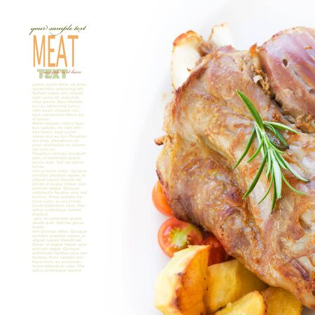 red braised: Delicious roasted and baked Veal knuckle with potatoes