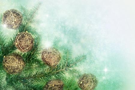 velas de navidad: Hecho a mano adornos de Navidad con copyspace Foto de archivo
