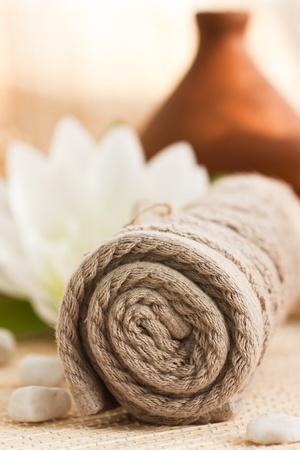 olla barro: Spa ajuste con la toalla y difusor olla de barro