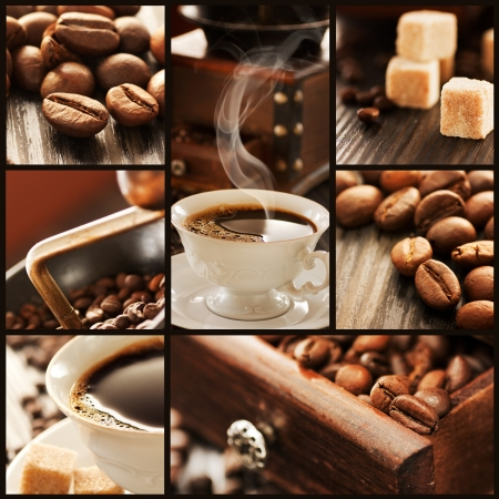 collection: Coffee collage Stock Photo