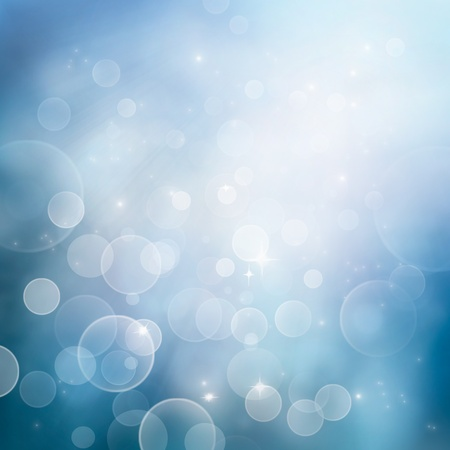 illustration and cool: Festive winter  abstract nature background with  bokeh lights and stars