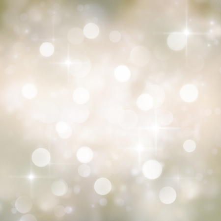 Festive gold Christmas abstract  background with bokeh lights and stars. Stock Photo - 11341638