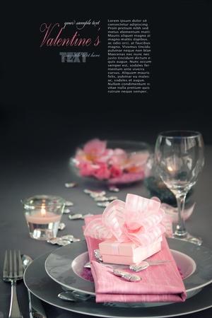 diner romantique: Série restaurant. Valentin