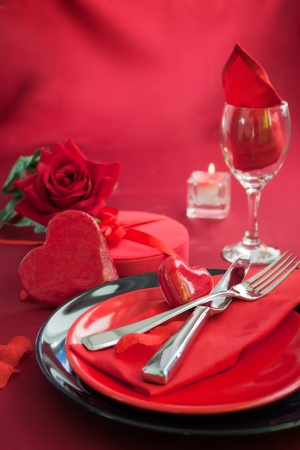 Restaurant series. Valentines theme Stock Photo - 12087589