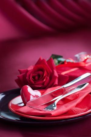 diner romantique: Série restaurants. Valentin