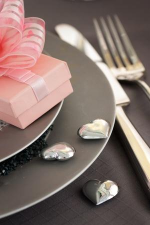 Restaurant series. Valentines table setting