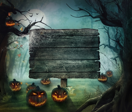 scary forest: Halloween design