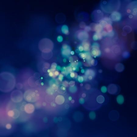 Bleu de f�te de No�l �l�gant fond abstrait avec des lumi�res bokeh et les �toiles