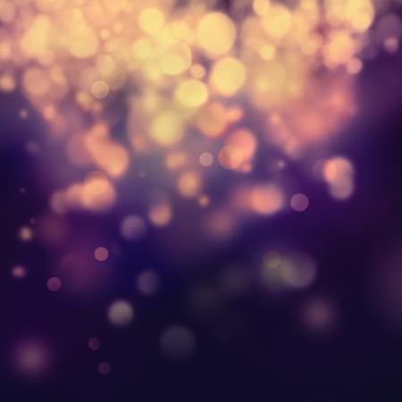estrellas moradas: Fondo p�rpura festivo de Navidad. Fondo elegante abstracto con el bokeh desenfocado luces y estrellas