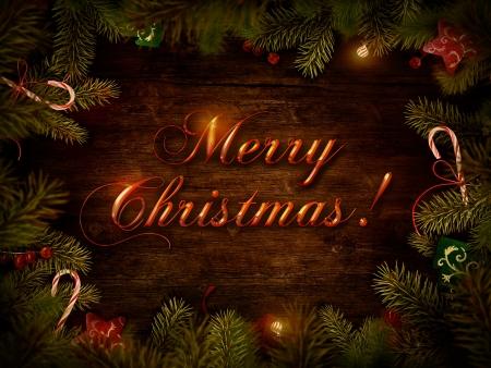 Merry Christmas  Xmas border card Stock Photo - 16278646